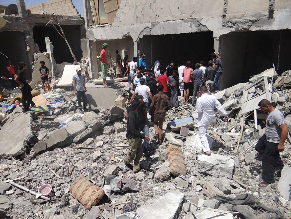 مجزرة جديدة لطائرات التحالف الدولي في مدينة الرقة