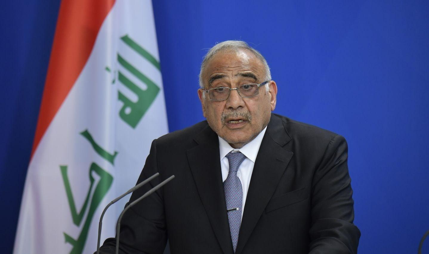 عبد المهدي: الاستقالة مهمة لتفكيك الأزمة وتهدئة الأوضاع في البلاد