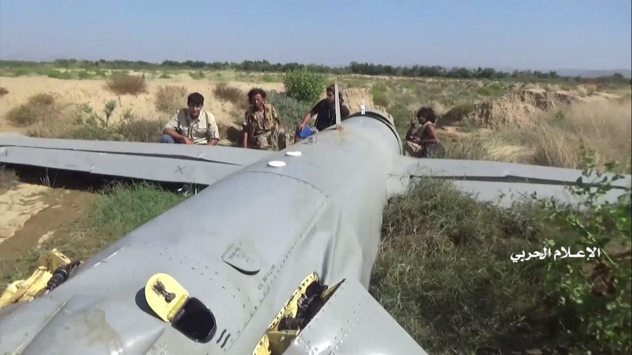 القوات المسلحة اليمنية تسقط طائرة استطلاع مقاتلة للتحالف السعودي