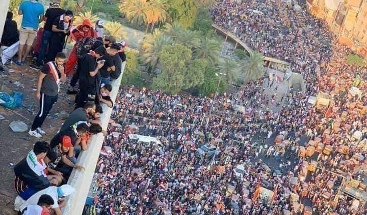 تنديد سياسي واسع بجريمة القتل المروعة في تظاهرات بغداد والتحقيق جارٍ
