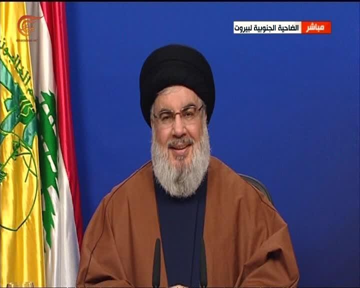 """السيد نصر الله: الولايات المتحدة و""""إسرائيل"""" تحاولان استغلال التظاهرات اللبنانية"""