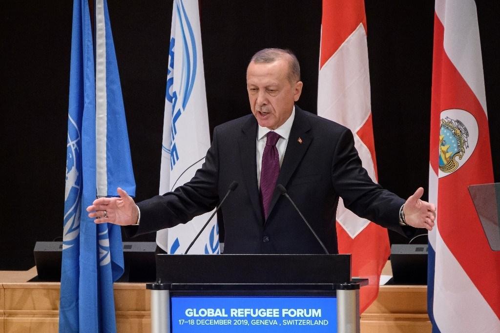 إردوغان في المنتدى العالمي للاجئين: يجب إقامة منطقة سلام شمال سوريا