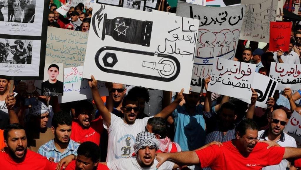 """ناشطون أردنيون يطالبون بإلغاء اتفاقية الغاز مع """"إسرائيل"""""""