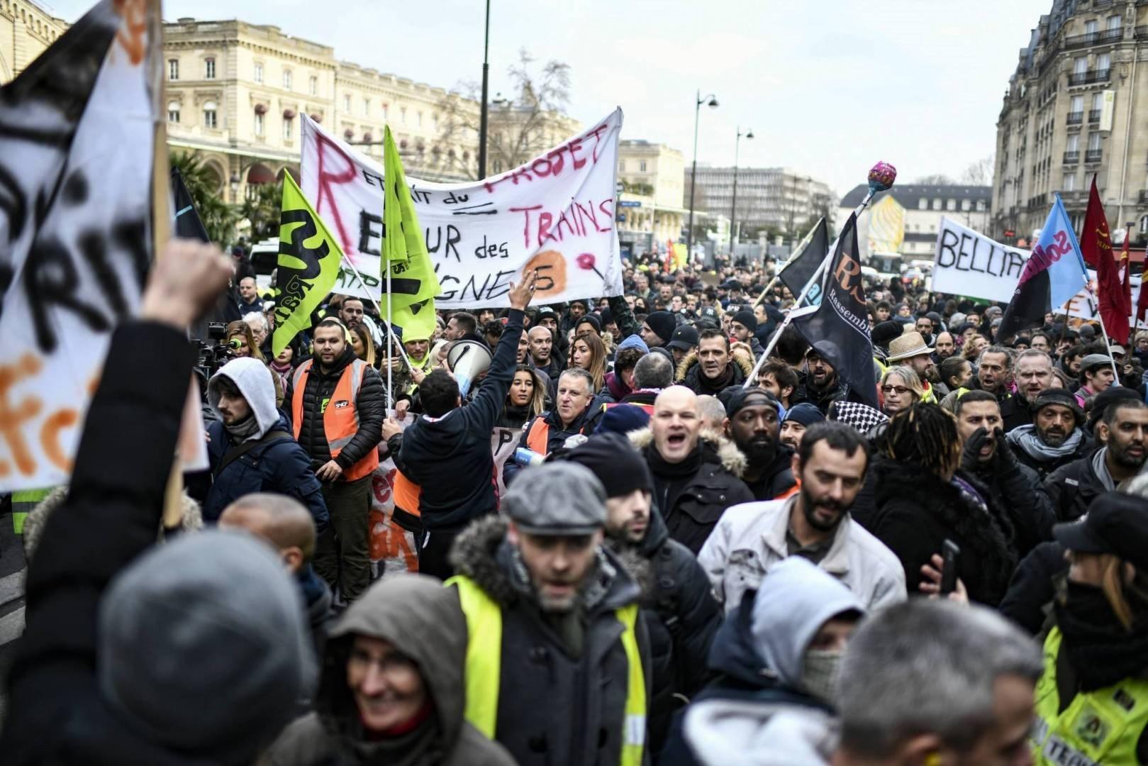 """فرنسا على موعد مع تظاهرات ضد """"إصلاح نظام التقاعد"""""""