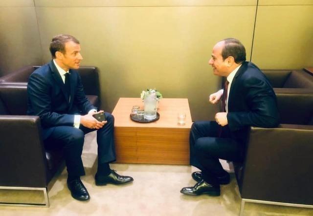 السيسي لماكرون: لضرورة وضع حد للتدخلات الخارجية في ليبيا