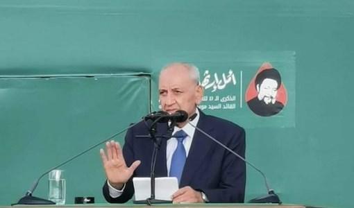 """برّي: حركة أمل والمقاومة لن تسمحا """"لإسرائيل"""" بترميم صورتها على حساب لبنان"""