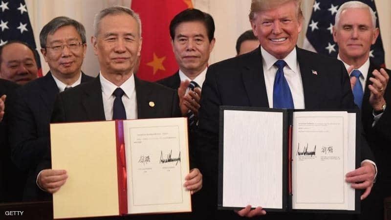 """أميركا والصين توقعان اتفاقاً تجارياً يشكّل """"محطّة تاريخيّة"""""""
