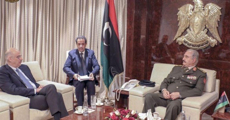 اللواء حفتر يجري مباحثات في أثينا استباقاً للمؤتمر الدولي حول ليبيا الأحد المقبل