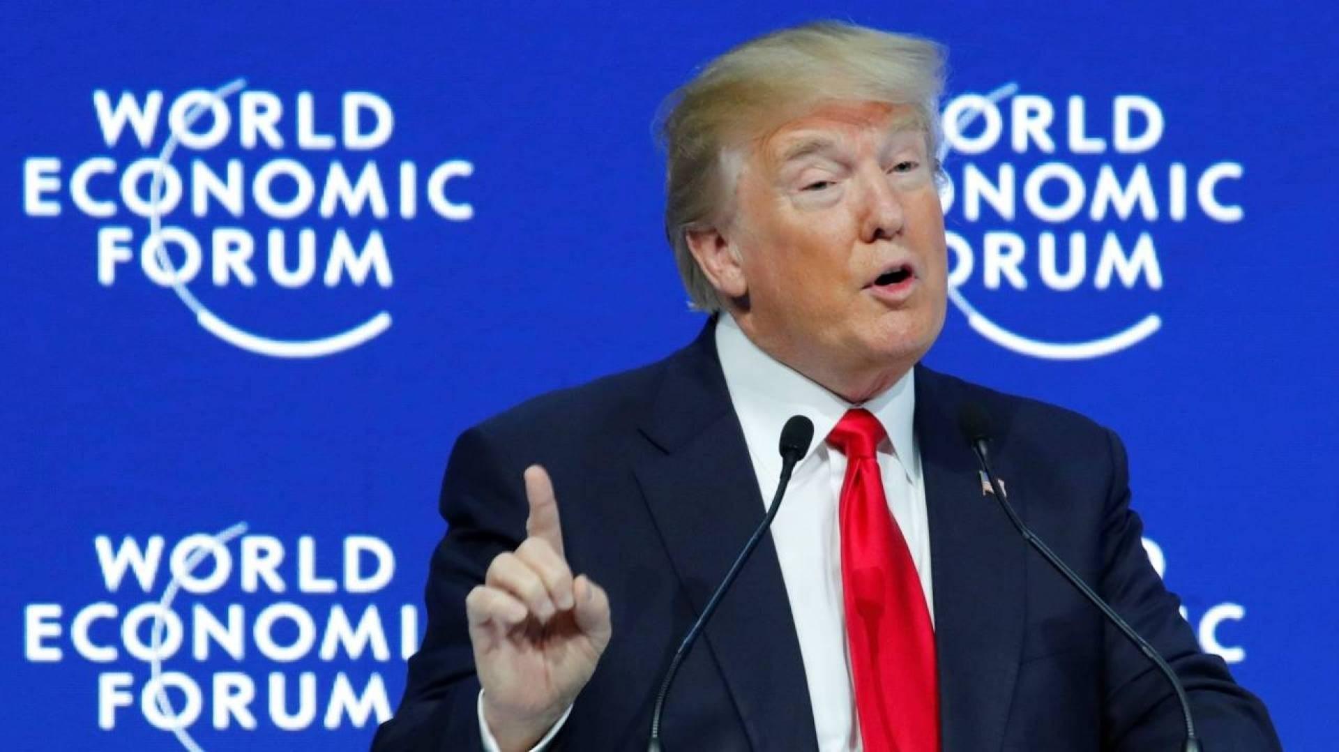ترامب في منتدى دافوس الاقتصادي: العلاقات الصينية الأميركية بأفضل مراحلها