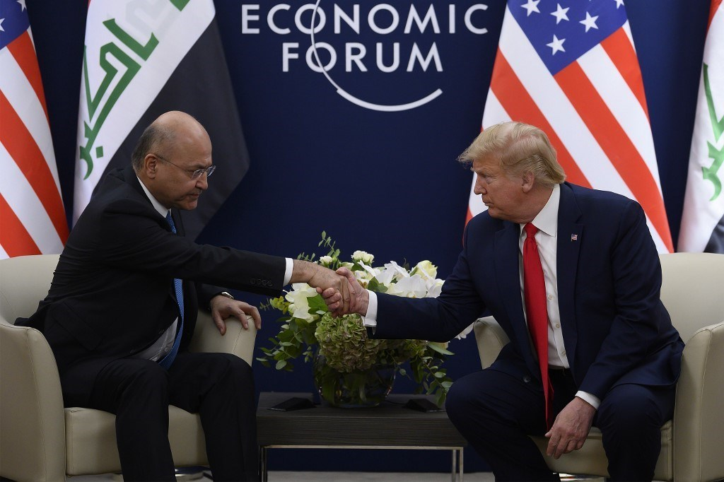 ترامب وصالح يناقشان تخفيض وجود القوات الأجنبية في العراق