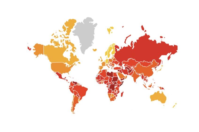 """""""الشفافية الدولية"""": 5 دول عربية بين الأكثر فساداً حول العالم في 2019"""
