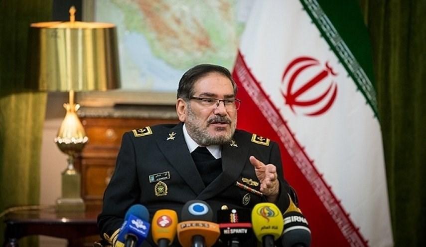 شمخاني: الشعب العراقي هو حامل لواء إخراج أميركا من المنطقة