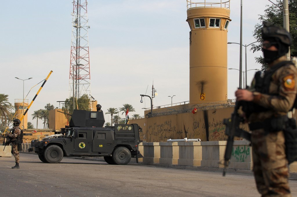 """الخارجية الأميركية تدعو العراق إلى """"الوفاء بالتزاماته"""" تجاه حماية سفارتها"""