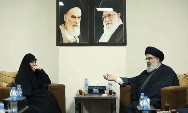 لقاء يجمع السيد حسن نصرالله وزينب سليماني