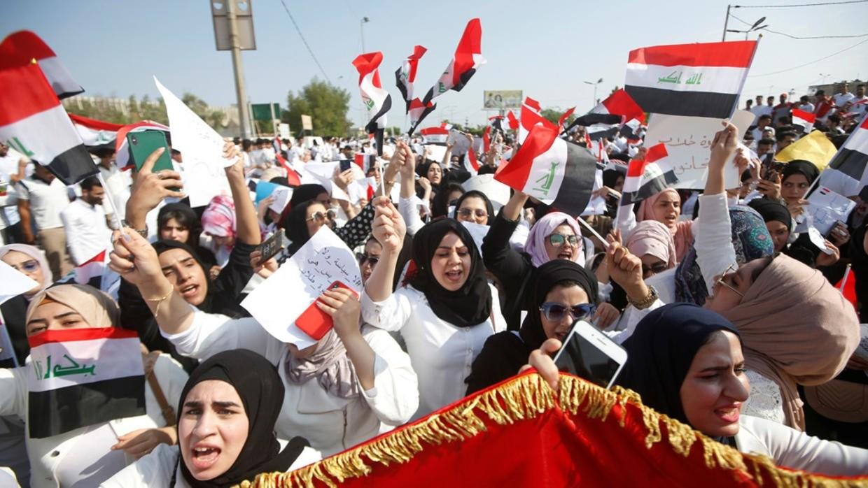 مسيرات طلابية في المدن العراقية.... رفضاً لأعمال العنف