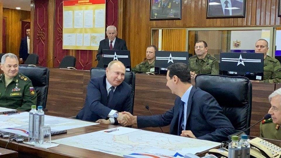 بوتين من دمشق: قطعنا شوطاً كبيراً في إعادة بناء الدولة السورية ووحدة أراضيها
