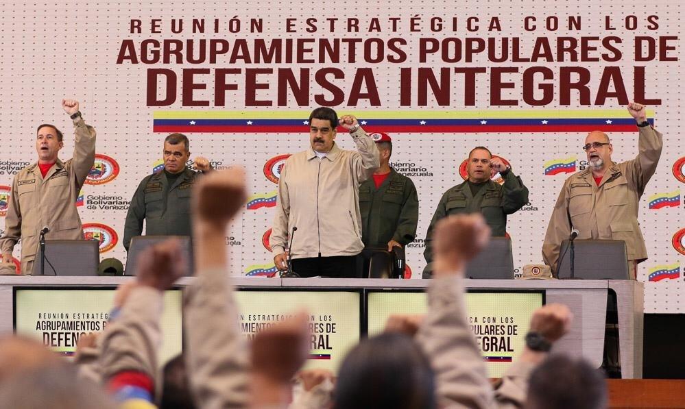 مادورو يطلق مناورات عسكرية الشهر المقبل: لنشر نظام الدفاع والجيش