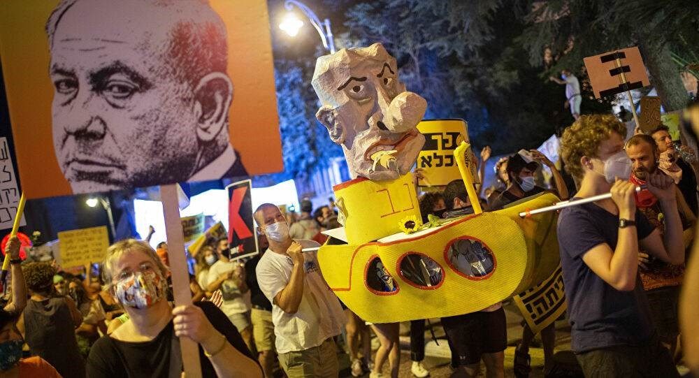 تظاهرات ضد نتنياهو في تل أبيب