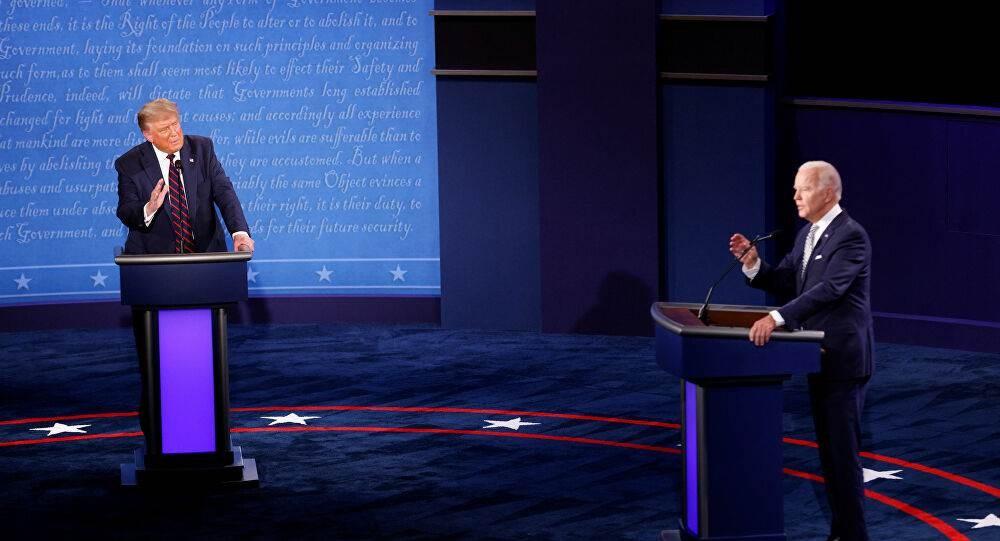 ترامب وبايدن في المناظرة الأولى