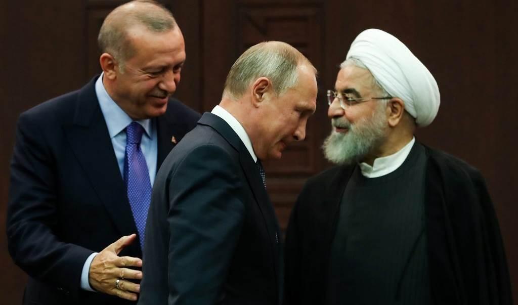 أردوغان وبوتين وروحاني بعد مؤتمر صحفي عقب اجتماع ثلاثي بشأن سوريا في أنقرة في 16 أيلول/ سبتمبر 2019 (أ ف ب - أرشيف)
