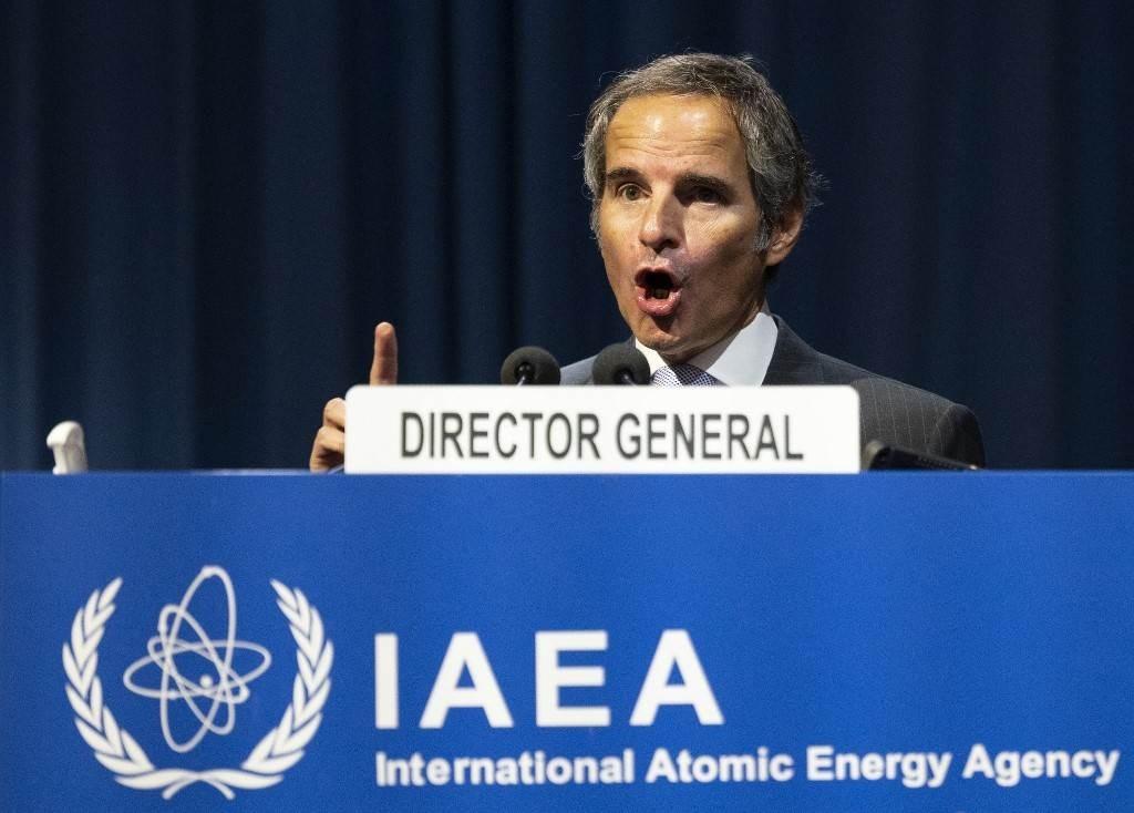 المدير العام للوكالة الدوليّة للطاقة الذريّة خلال المؤتمر العام الـ64 للوكالة في فيينا - 21 سبتمبر 2020 (أ.ف.ب)