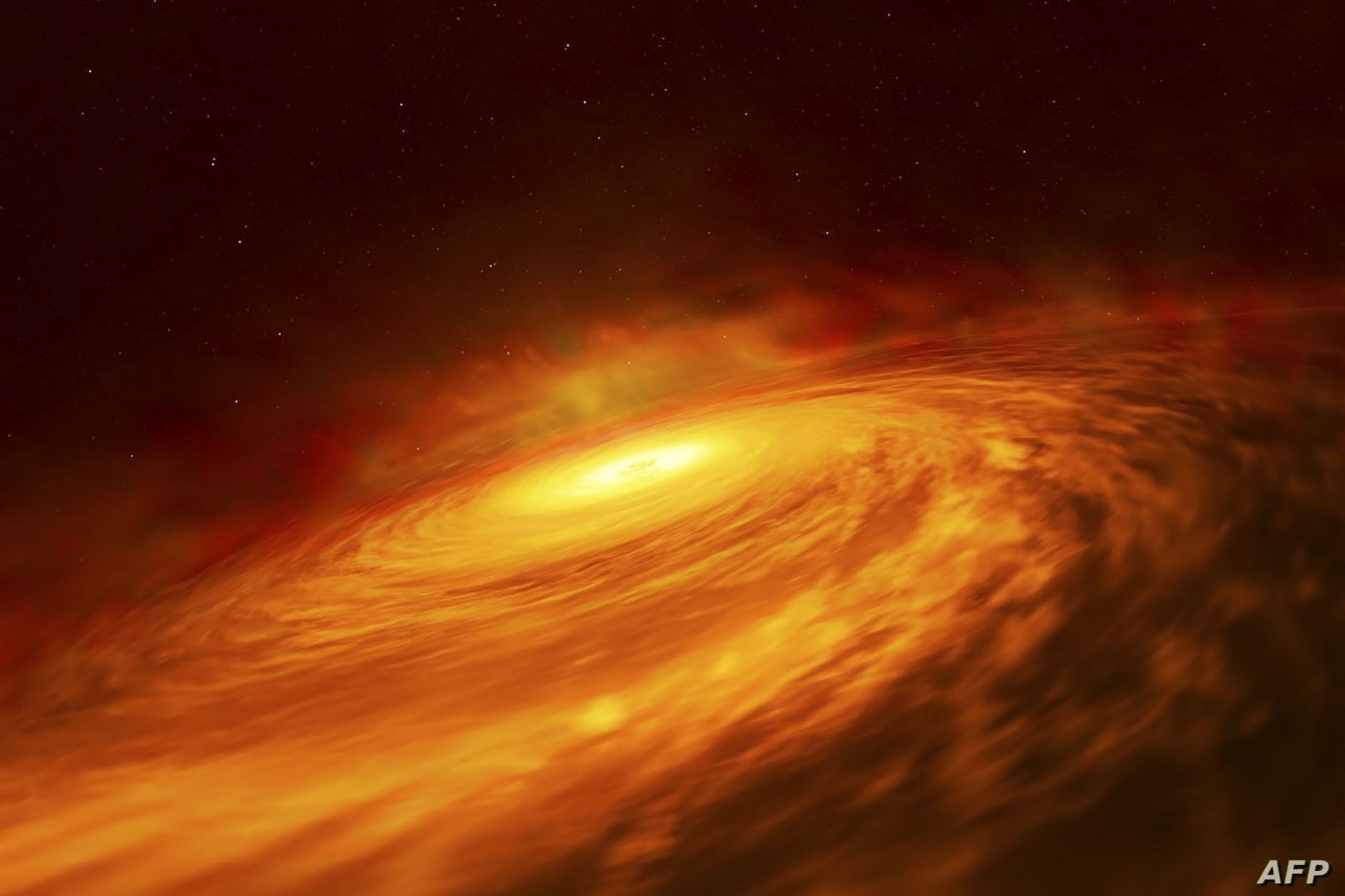 يحدث انفجار الضوء عندما يقترب النجم كثيراً من الثقب الأسود