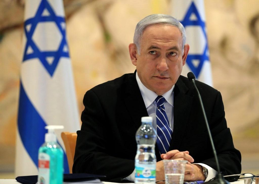 نتنياهو في الكنيست: سلام مقابل سلام هذا ما استطعنا تحقيقه (أ ف ب)