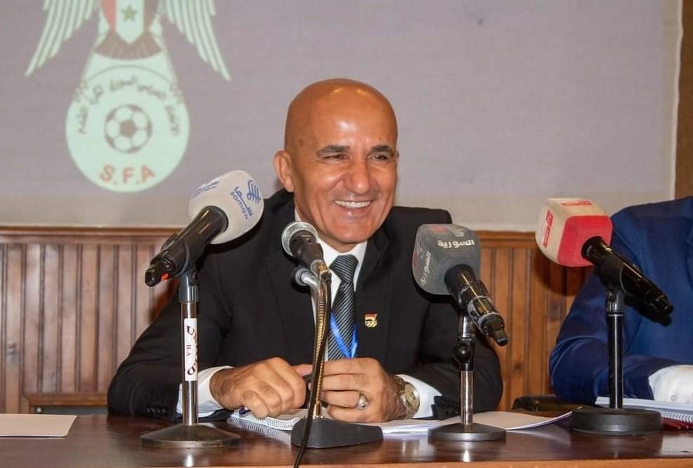 العميد حاتم الغايب رئيس الاتحاد السوري لكرة القدم