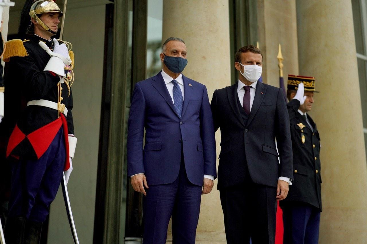 رئيس الوزراء العراقي خلال لقائه مع نظيره الفرنسي