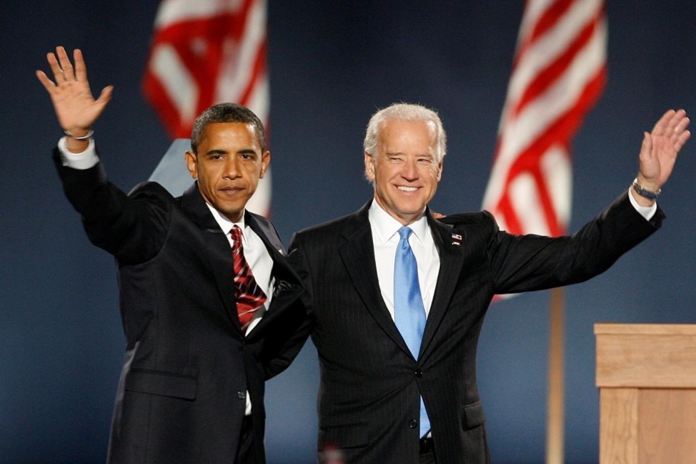 الرئيس الأميركي السابق باراك أوباما والمرشح الديمقراطي للانتخابات الرئاسية جو بايدن