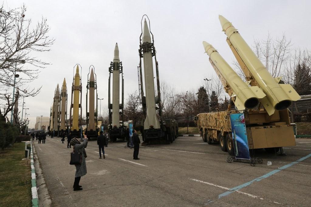 معرض للأسلحة والمعدات العسكريّة في العاصمة الإيرانيّة طهران - فبراير 2019 (أ.ف.ب)