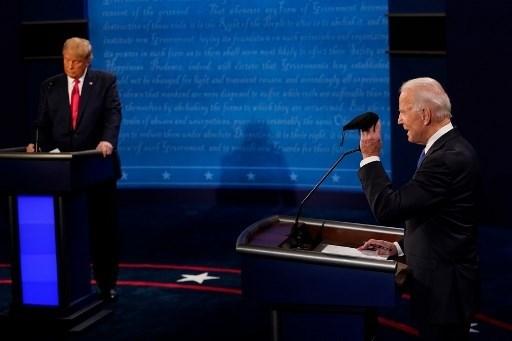 ترامب وبايدن يتنافسان في المناظرة الرئاسية النهائية في جامعة بلمونت 22 تشرين الأول/أكتوبر 2020- ولاية تينيسي (أ ف ب)