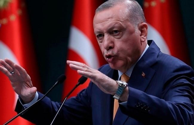 الرئيس التركي رجب طيب إردوغان في كلمة له عقب اجتماع حكومي في أنقرة - 5 أكتوبر 2020 (أ.ف.ب)