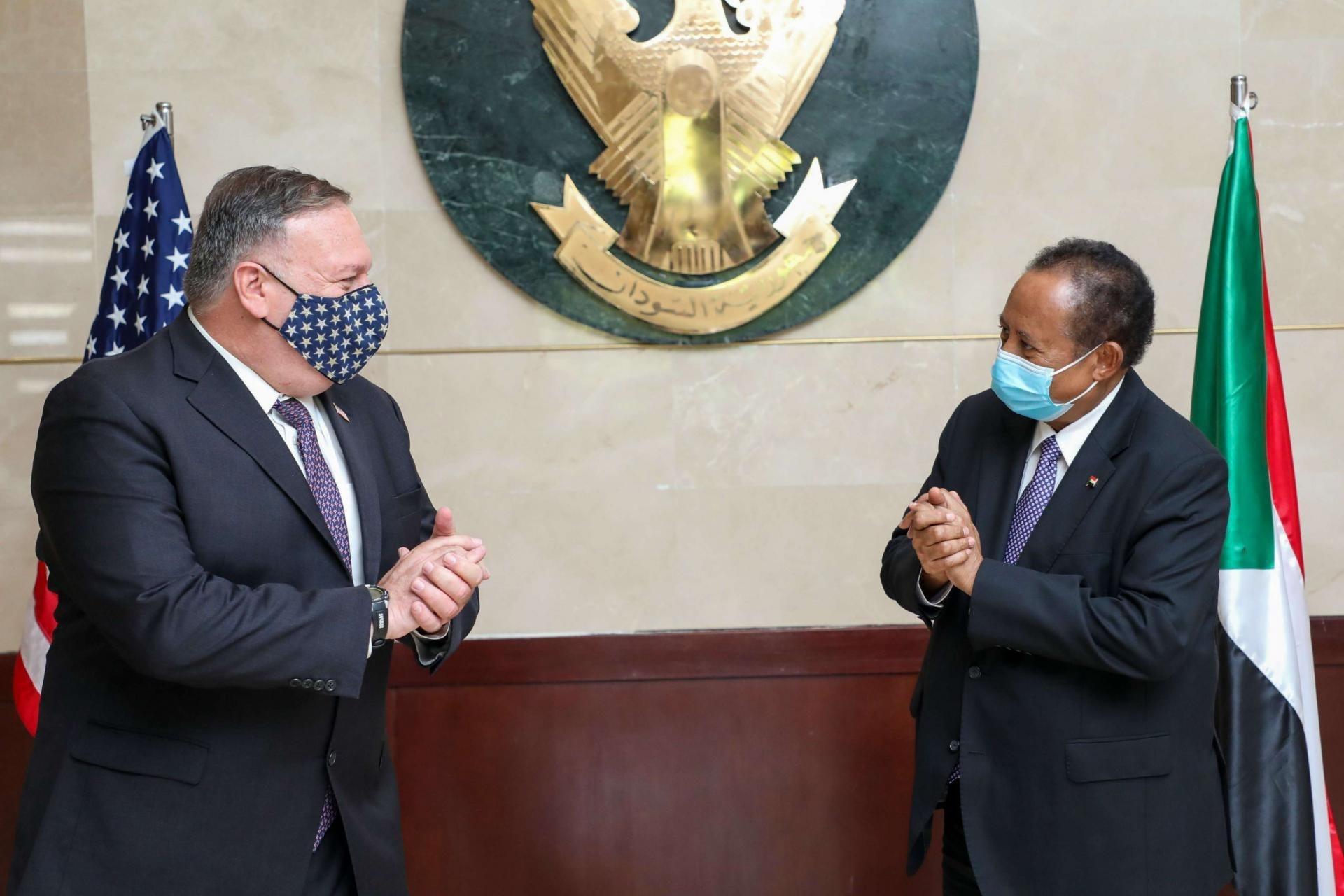 وزير الخارجية الأميركي مايك بومبيو خلال زيارته الخرطوم