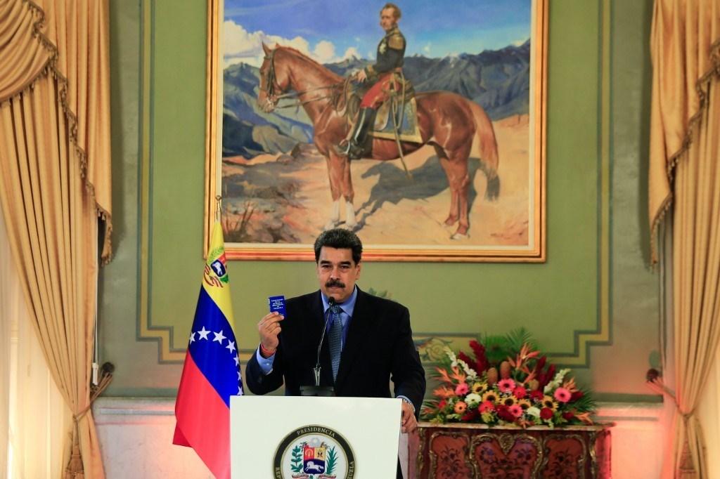 مادورو متحدثاً خلال مؤتمر صحفي بالفيديو في كاراكاس - 28 أكتوبر  2020 (أ.ف.ب)