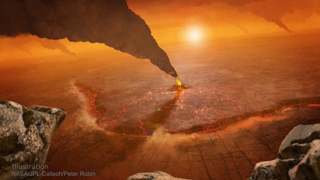 ناسا تنشر صورة مرعبة لثوران بركان على كوكب الزهرة!