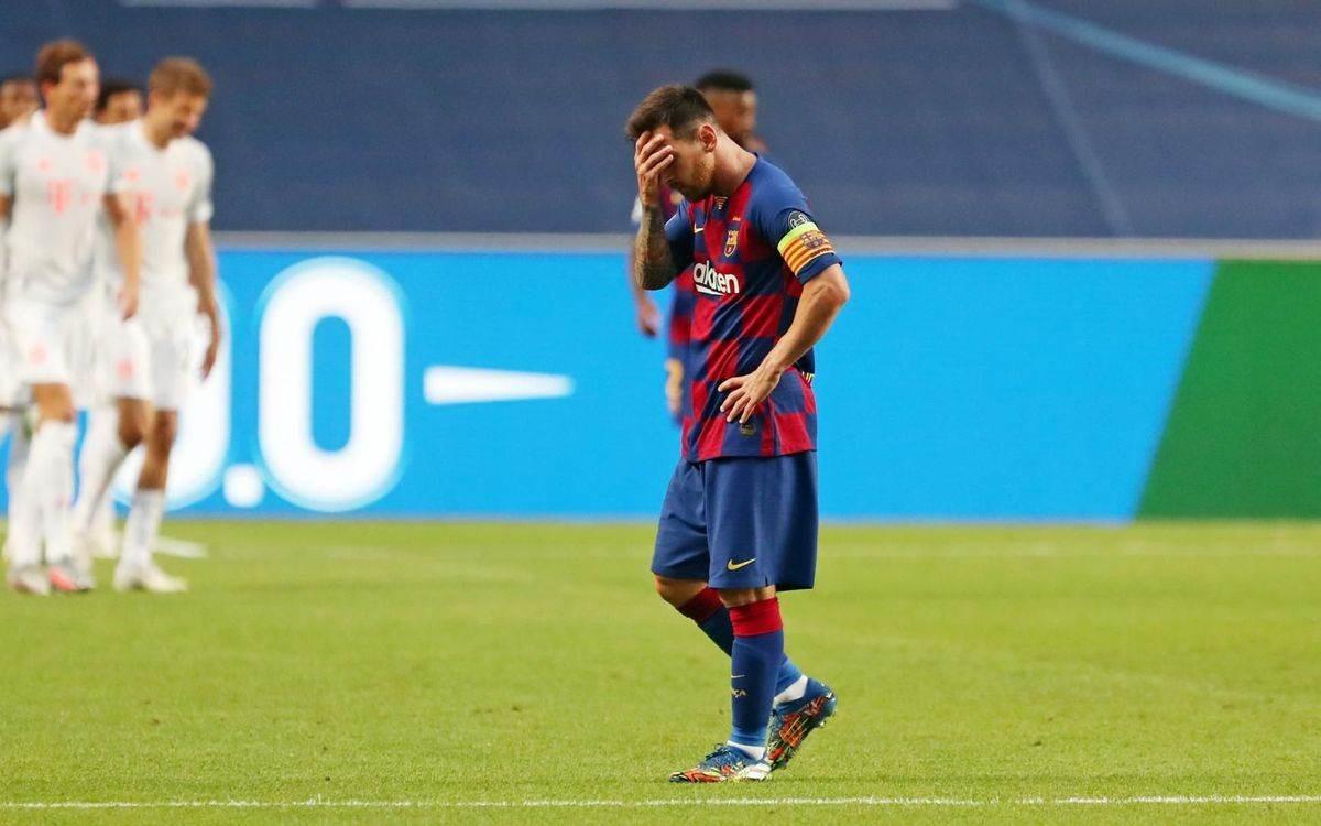 ميسي في مباراة بايرن ميونيخ التي انتهت بفوز الأخير 8-2 (أرشيف)