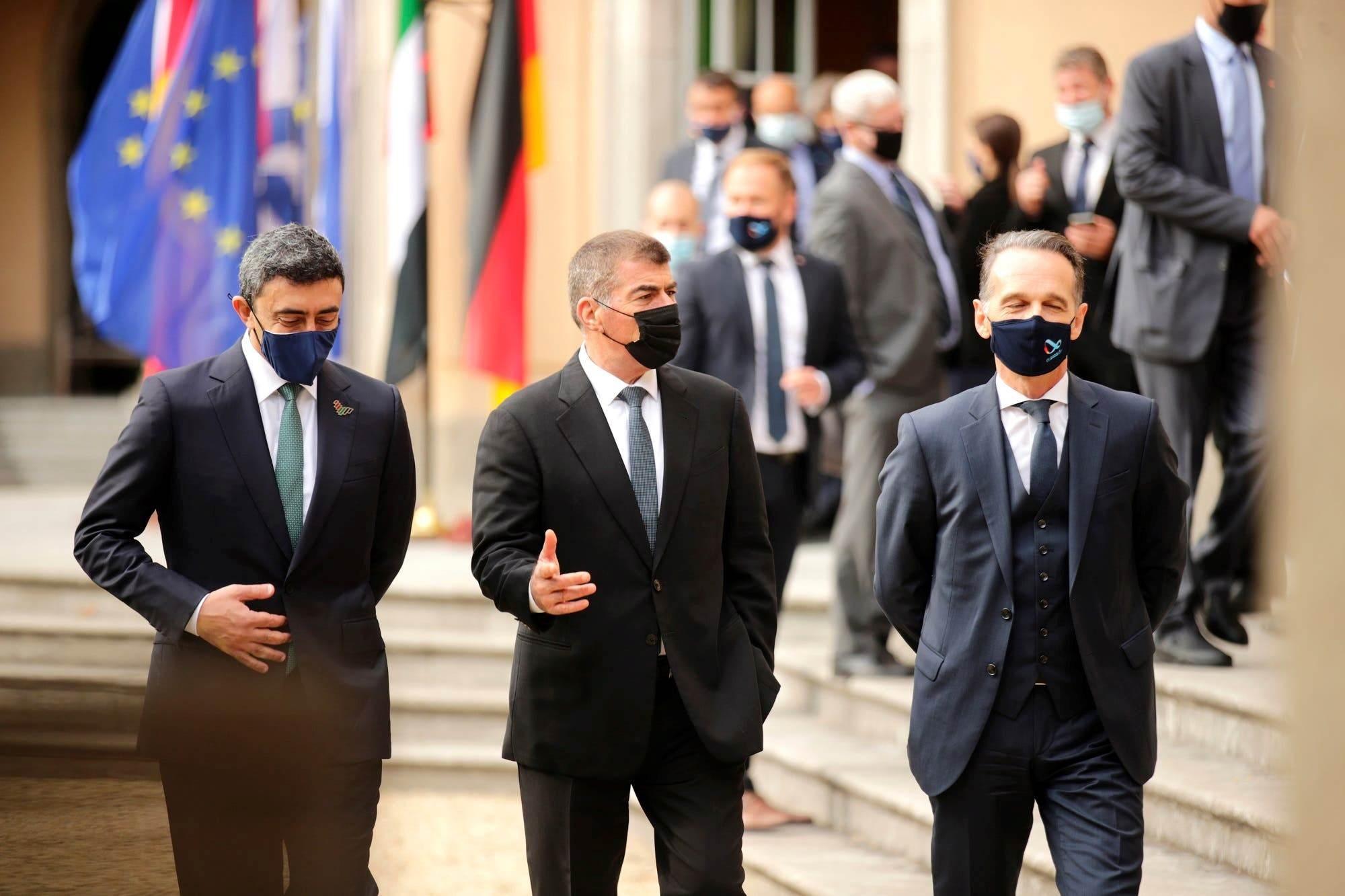 وزيرا خارجية الإمارات وألمانيا و