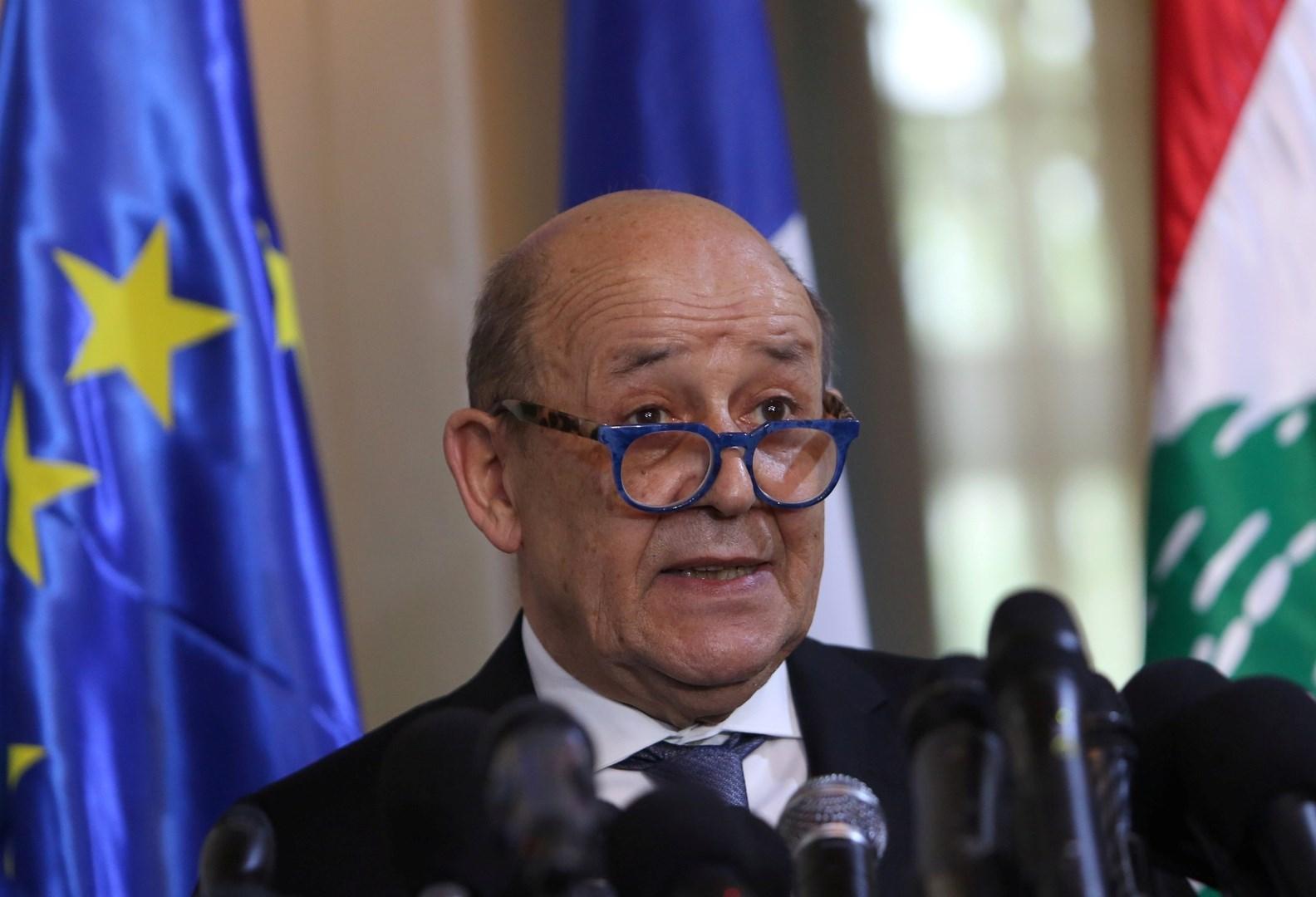 لودريان: المؤتمر الدولي لمساعدة لبنان سيعقد الشهر المقبل