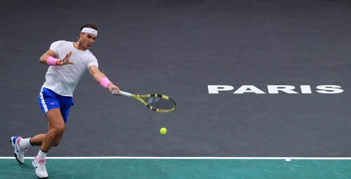 رافاييل نادال في بطولة باريس لتنس الأساتذة (أرشيف)