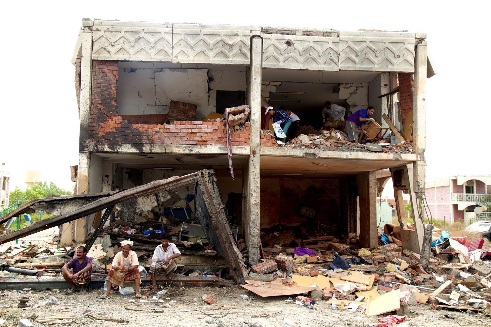 قصف سعودي على منازل المدنيين اليمنيين (أرشيف)