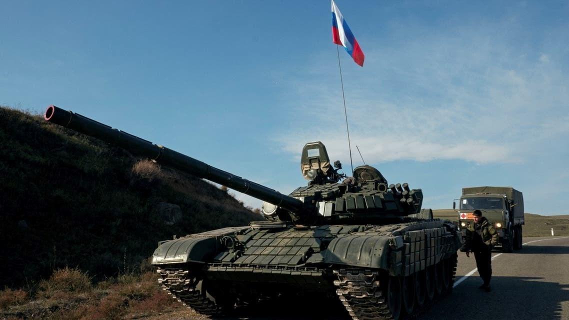 قوات حفظ السلام الروسية بدأت بالانتشار في المنطقة المتنازع عليها بين أرمينيا واذربيجان