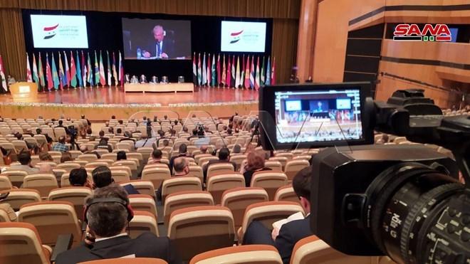 في الجلسة الختامية لأعمال مؤتمر عودة اللاجئين السوريين إلى بلادهم