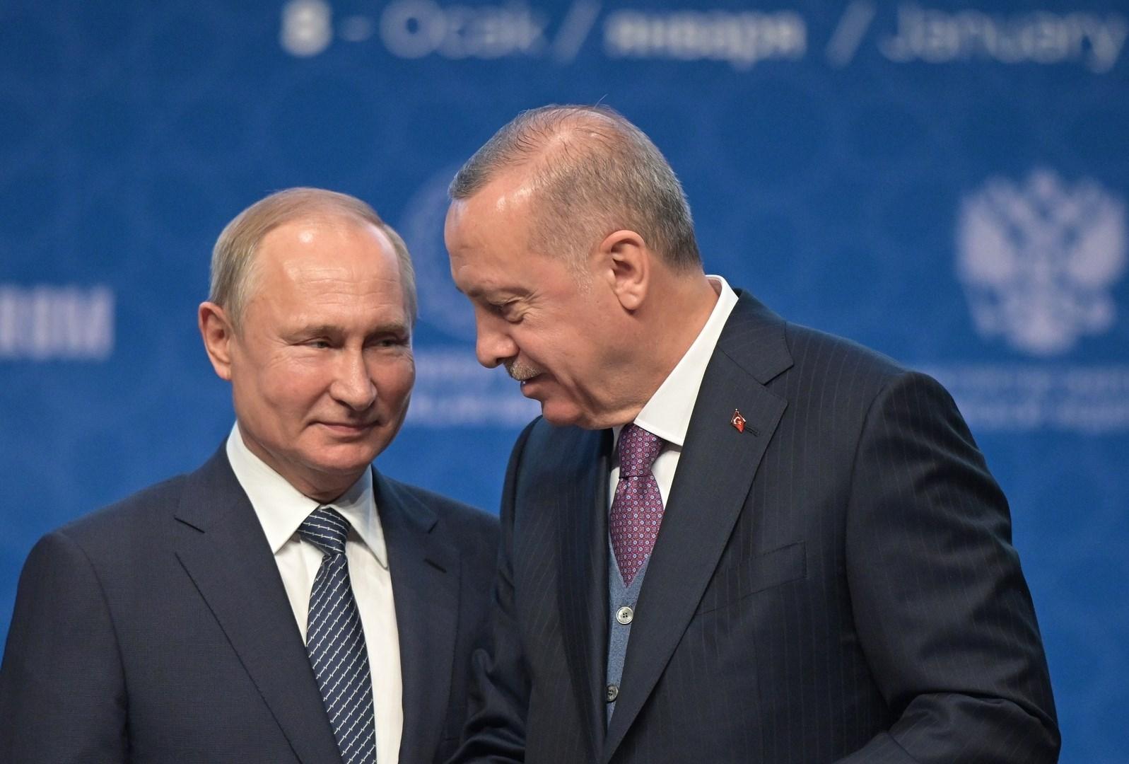موسكو: حديث عن اتفاق محتمل بين بوتين وإردوغان للتعاون في كل المناطق التي تتناقض فيها مصالحهما
