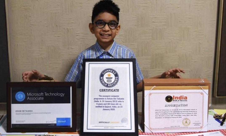 طفل هندي يدخل كتاب غينيس كأصغر مبرمج في العالم