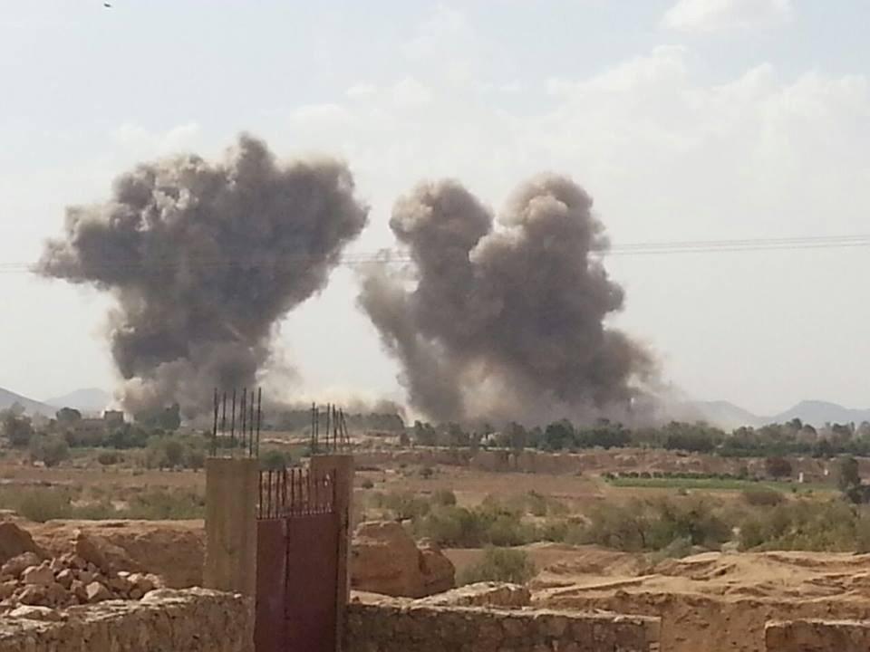 قصف التحالف السعودي على مأرب يوقع عدد من الضحايا المدنيين