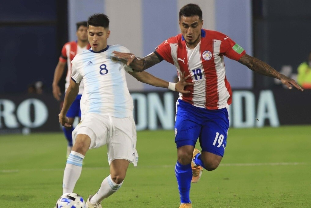 أُصيب بالاسيوس في المباراة أمام باراغواي
