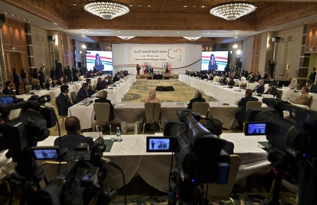 ملتقى الحوار الليبي الذي انعقد في تونس (أ ف ب - أرشيف)