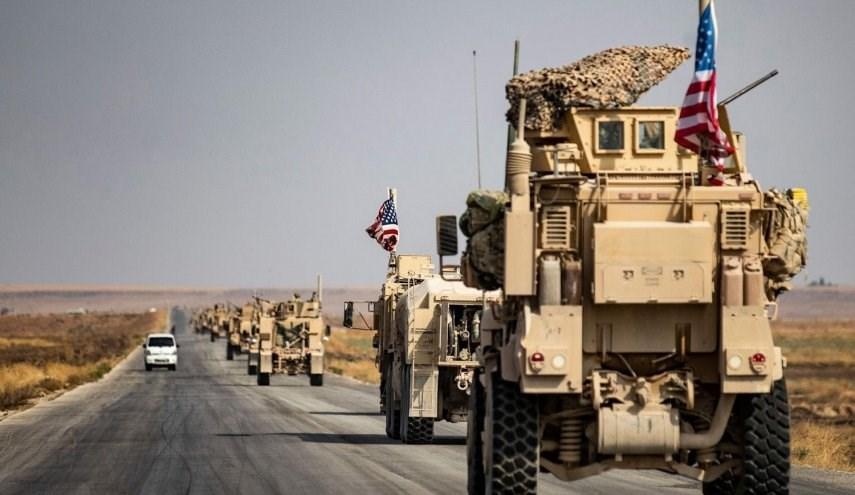 رتل عسكري أميركي ينتقل من ريف الحسكة إلى إقليم شمالي العراق (ارشيف)