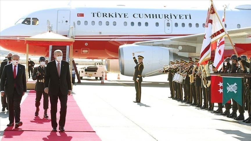 إردوغان يصل إلى مدينة فاروشا في شمال جزيرة قبرص